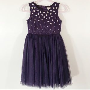 Place 89 Tulle Rhinestone Dress, Purple, Girls, 12